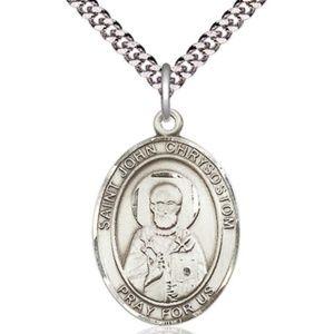 Sterling Silver St John Chrysostom Pendant